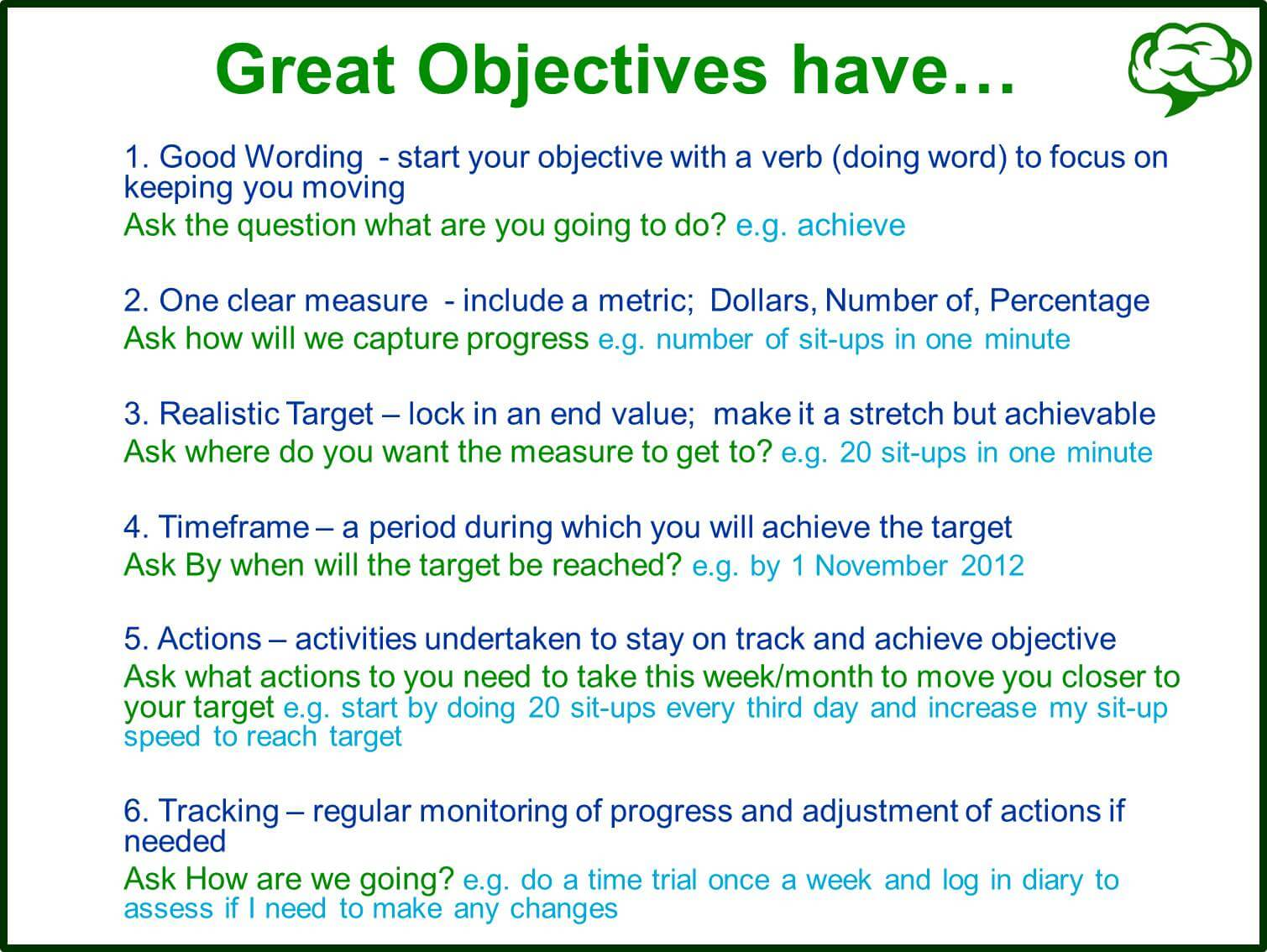 Great Objectives 6 Questions To Get Objectives Right